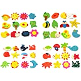 RHX 24pcs Cartoon Funny Baby Toy Wooden Fridge Magnet Refrigerator Magnets Gift
