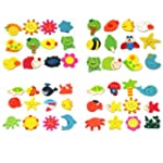 RHX 24pcs Novelty Animals Wooden Frid...