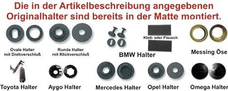 RAU Gummimatten OCTAGON Band silber passend für VW Passat Variant 8//05-10//10