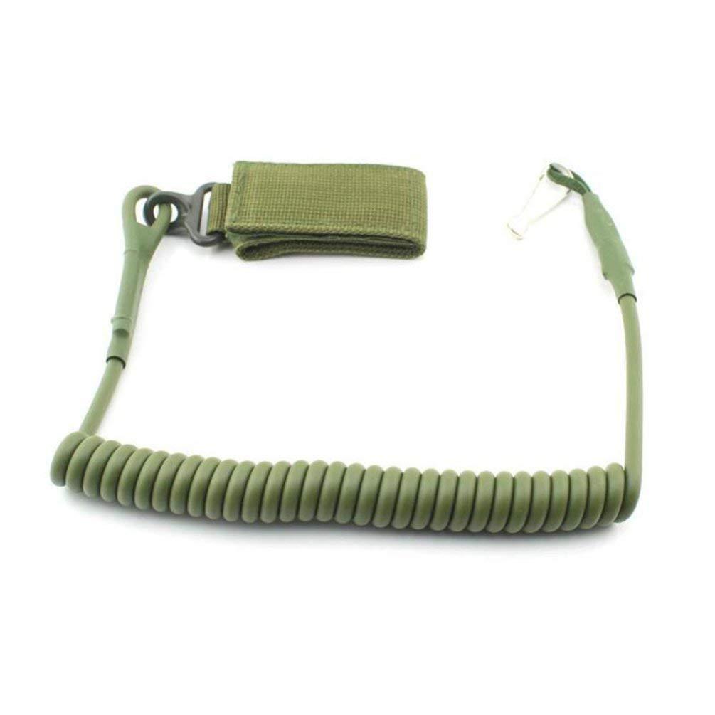 Corde de s/écurit/é Multi-Fonction pour Escalade Ressort de Ventilateur darm/ée en Plein air Noir Nihlsen Porte-cl/és /élastique r/ésistant /à lusure en Plein air