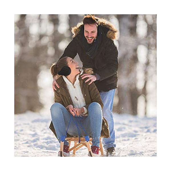 Ear Muffs for Womens/Mens - Winter Ear Warmers, Soft & Warm Knit Furry Fleece Earmuffs, Foldable Ear Covers for Cold Weather