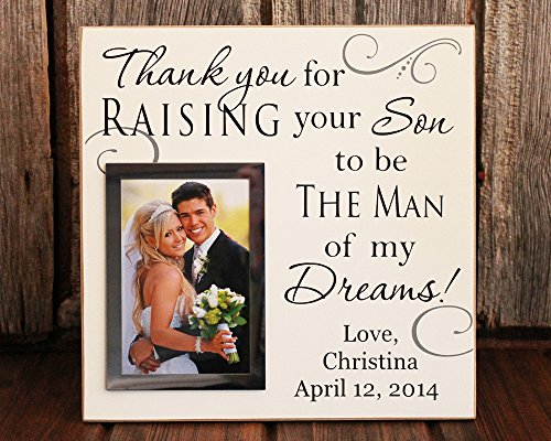 12x12, Thank you for raising the man of my dreams personalized picture  frame wedding gift for grooms parents personalized wedding gift, picture  frame, ...