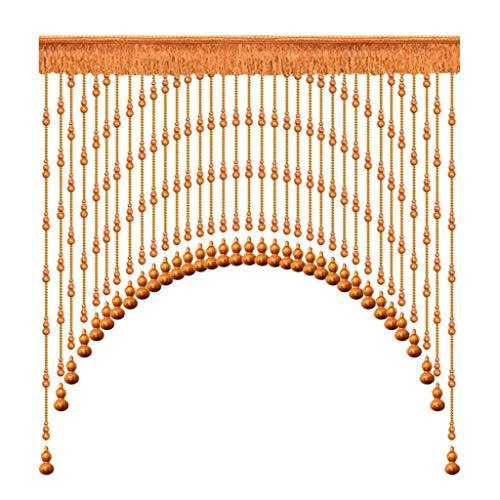 Bead curtain Home Décor Mahogany Hoist Curtain Wooden Living Room Partition Curtain Bedroom Porch Hanging Curtain Bathroom Arc Arched Curtain Curtain Panels
