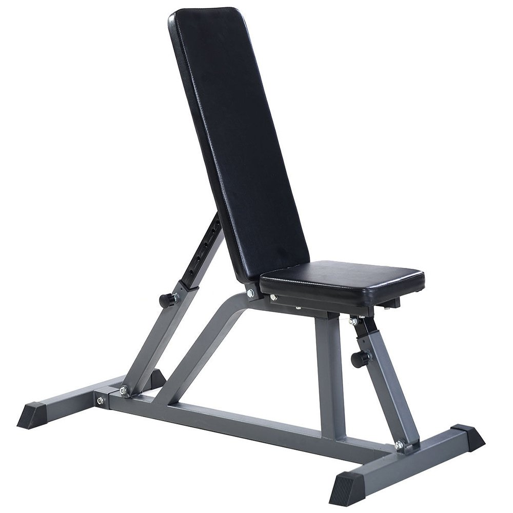 Lovinland Adjustable Weight Bench Ab Exercise Bench Folding Dumbbell Fitness Bench Black for Gym Home by Lovinland