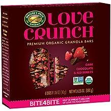 Nature's Path Love Crunch Premium Organic Granola Bars, Dark Chocolate/Red Berries, 12 Count