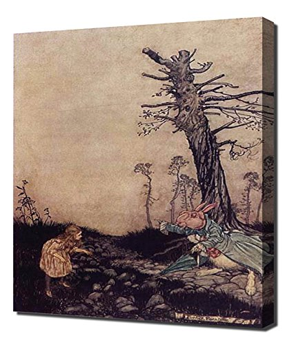 Arthur Rackham - Alice In Wonderland A Mad Tea Party - Canvas (Tea Party Canvas Reproduction)