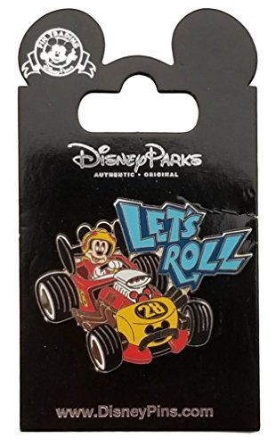 (WDW Trading Pin - Mickey Race car - Let's Roll)