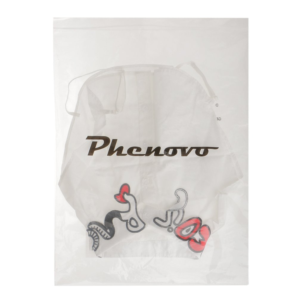 Phenovo Donne Mezze Gilet Camicie Colletto Collare Staccabile Camicetta Applique Ricamo Decorazione