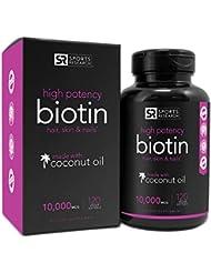 Biotin 10,000mcg in Cold-Pressed Organic Coconut | Non-GMO...