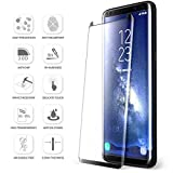 [2 Pack] Samsung Galaxy S8 Plus Screen Protector, Daker [Case-Friendly] [3D coverage] [No Bubble] PET HD Screen Protector Tempered Glass Film for Samsung Galaxy S8 Plus Black (Black 2p)