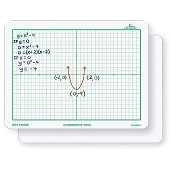 amazon com nasco tb22066t dry erase board coordinate grid double