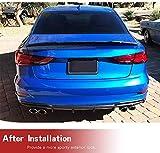 JC SPORTLINE Carbon Fiber Rear Spoiler fits Audi A3 8V Base Sline S3 Sedan 2014-2020 Trunk Lip Spoiler Rear Decklid Spoiler Rear Wing Spoiler Trunk Lid Spoiler