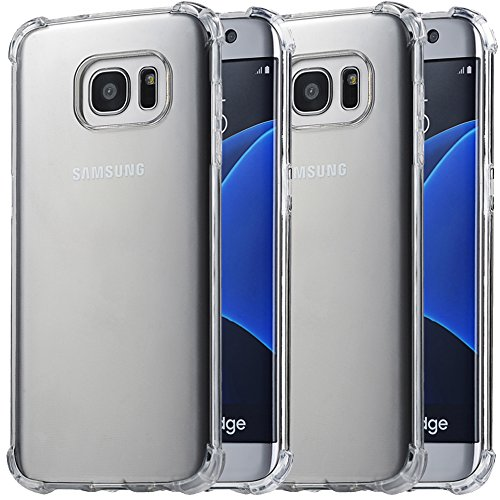 2Pack Galaxy S7 Edge Crystal Transparent Clear Case,Ibarbe Slim Thin Scratch Resistant...