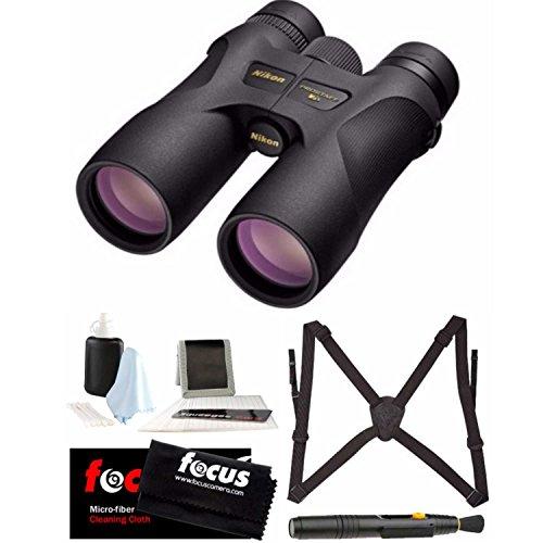 Nikon 16003 PROSTAFF 7S 10×42 Binocular (Black) Accessory Bundle
