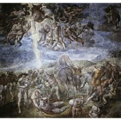 The Conversion of Saul 1542-45 Michelangelo Buonarroti (1475-1564 Italian) Fresco Vatican Museums and Galleries Vatican City Poster Print (24 x 36)