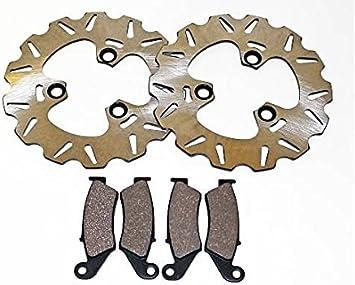 Fits Honda TRX450R TRX 450 R Front Brakes Brake Pads and Sport Rotors