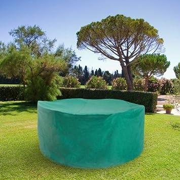 Ose Housse De Protection Pvc Pour Table Ronde De Jardin  Vert