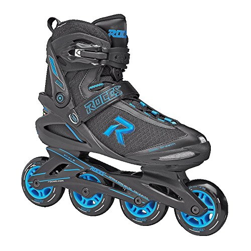 Roces 400821 Men's Model Icon Fitness Inline Skate, US 7, Black/Cyan
