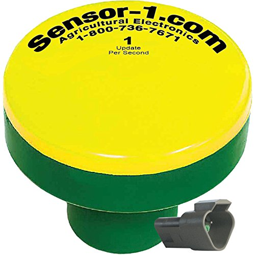 Sensor-1 DS-GPSM-TJ1-Y/G 1 Hz GPS Speed Sensor, Yellow Top and Green Stem Housing with Tee-Jet Connector by Sensor-1