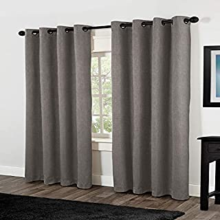 Exclusive Home Curtains Rita Linen Grommet Top Window Curtain Panel Pair, Black Pearl, 54x84 (B00G24TAFE) | Amazon price tracker / tracking, Amazon price history charts, Amazon price watches, Amazon price drop alerts