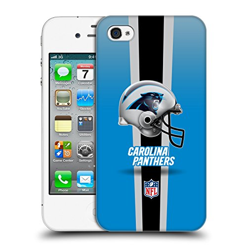 Official NFL Helmet Carolina Panthers Logo Hard Back Case for Apple iPhone 4 / 4S - Nfl Iphone 4 Case
