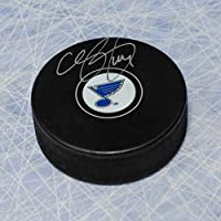 Chris Pronger St. Louis Blues Autographed Hockey Puck - Autographed Hockey Pucks