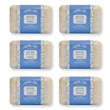 Savon et Cie Triple Milled Exfoliating Oatmeal Soap, Organic Shea Butter, 100% Pure Vegetable Based, Natural Bath Soap, Made in France, Paraben Free Value Pack of 6 x 7 oz (200g) For Sale