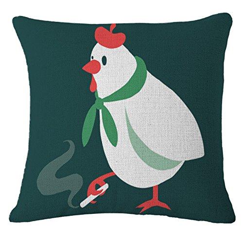 "Frog Chickens Ducksソファ枕カバーコットンリネンスロークッションカバーホームインテリア 18"" CH54703 B07BGY9D6G  カラー3"
