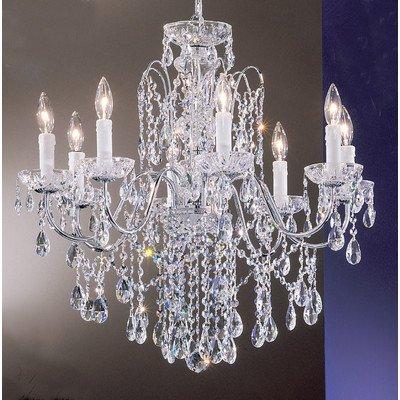 Classic Lighting 8398 CH SC Daniele, Crystal, Chandelier, Chrome ()