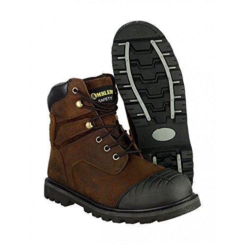 Amblers Steel - Calzado de protección de cuero para hombre marrón - marrón