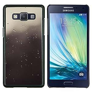 Gotas grises- Metal de aluminio y de plástico duro Caja del teléfono - Negro - Samsung Galaxy A5 / SM-A500