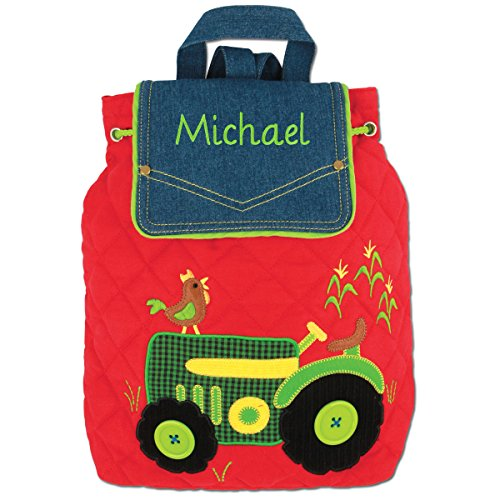 Embroidered Tractor - Personalized Stephen Joseph Tractor Signature Quilted Backpack with Embroidered Name