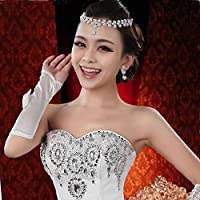 YSTD® Fashion Women Faux Pearl Necklace Earring Set Novia de la boda Joyería de dama de honor