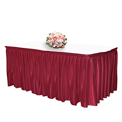 1b4d3f7f71 Image Unavailable. Image not available for. Color: JINSEY 14 ft Shimmer Polyester  Table Skirt ...
