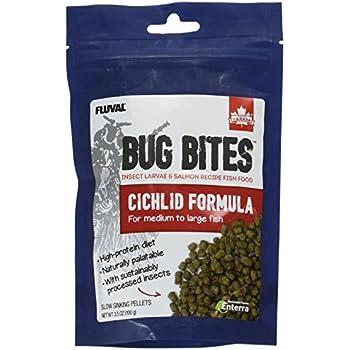 Amazon Com Fluval A6581 Bug Bites Cichlid Pellets 3 53