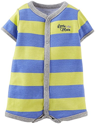Carters Baby Boys Striped Romper - Multicol - 6 Months
