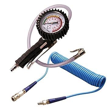 BGS Pistola de aire de presión de neumáticos 0 – 12 bares de presión de aire