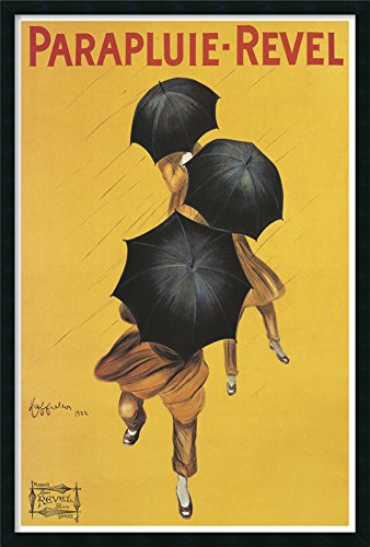 Framed Art Print, 'Parapluie-Revel (ca. 1922)' by Leonetto Cappiello: Outer Size 25 x 37