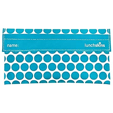 LunchSkins Reusable Snack Bag - Aqua Dot