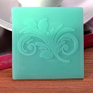 Silicone Lace Mold Fondant Gum Paste Tulip Shape Cake Mould