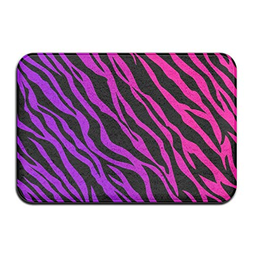 - Eieskpo Fuchsia Zebra Pattern Welcome Door Mat Rug Indoor/Outdoor/Front Door/Bath Mats
