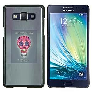 LECELL--Funda protectora / Cubierta / Piel For Samsung Galaxy A5 A5000 -- Idea Luz Poster divertido del cráneo del bulbo gris --