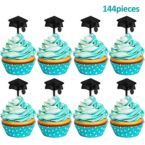 - Graduation Cupcake Toppers Plastic Graduation Food Toothpick Toppers Appetizer Picks for 2019 Graduation Party Supplies (144)