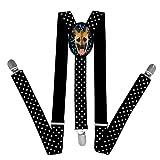 Nice Wide Comfortable Funny German Sheepdog Mask Suspender Unisex Suspender Adjustable Y-Back