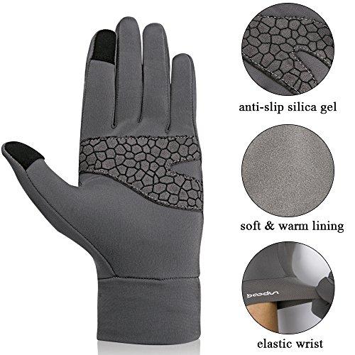 BOODUN Cycling Gloves Touch Screen Winter Driving Gloves for Women Men - Anti-skid