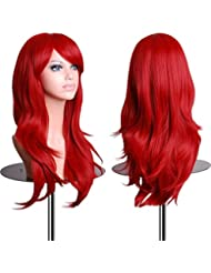 EmaxDesign Wigs 28 inch Wavy Curly Cosplay Wig With...