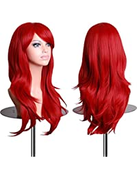 Wigs 28 Inch Cosplay Wig For Women With Wig Cap and Comb (Red)