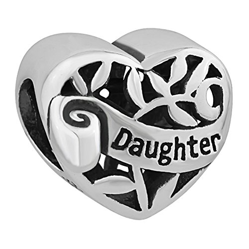 (I Love You Family Tree of life Heart Authentic 925 Sterling Silver Bead Fits European Charms (Daughter))