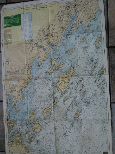 Waterproof Chart # 101 E Casco Bay ( Large Print) 2 Sides, Soundings in Feet, At Mean Lower Low Water ()