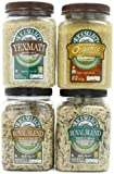 RiceSelect Whole Grain Lover's Sampler, Rice and Couscous Variety Pack, 4-Jar Set